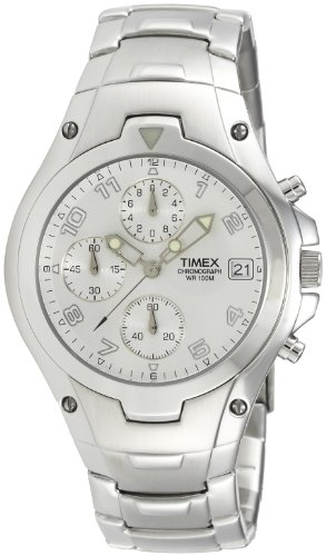 Timex E Class Chronograph Silver Dial Men's Watch - T27881 image