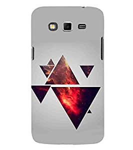 For Samsung Galaxy Grand 2 abstract triangle, triangle, grey background Designer Printed High Quality Smooth Matte Protective Mobile Pouch Back Case Cover by BUZZWORLD