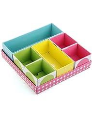 DIY Make-up Organizer Papier Storage Box Kosmetik Aufbewahrung mit Deckel Farbig