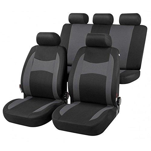 RMG R01BV307 coprisedili compatibili per YARIS fodere auto R01 neri grigi per sedili con airbag braciolo e sedili sdoppiabili