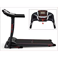 Fit-Force Cinta de Correr Plegable 1600W Velocidad hasta 15KM con Entrada de Mp3 y Dos Altavoces 1.5CV