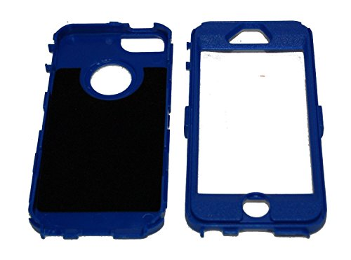 nicetime iPhone 5/iPhone 5S iPhone 6/6plus Defender Body Armor Coque Noir sur Bleu Marine comparables à celles OtterBox Defender Series, Bleu clair, iPhone 5