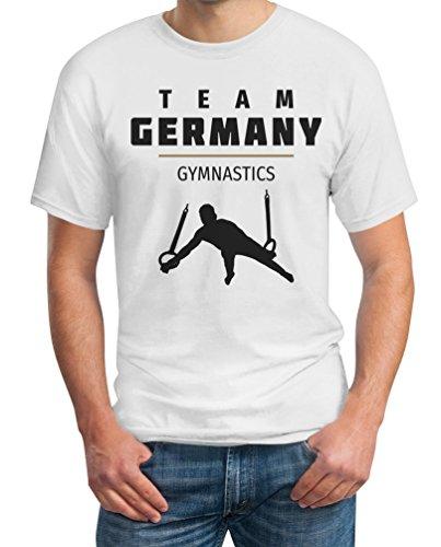 Gymnastik Team Germany - Olympia 2016 Fan Motiv T-Shirt Weiß