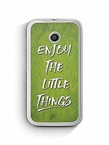 YuBingo Enjoy The Little Things Designer Mobile Case Back Cover for Motorola G4