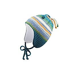Ergora Baby Mütze Winter Jungen Mädchen Farbe Wind Gr. 41-43 Wintermütze Kindermütze Zipfelmütze Baumwollfutter