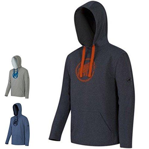 Mammut Herren Sweatshirt Logo ML Hoodied granit melange/spicy