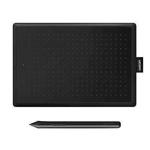 Wacom Bamboo Grafiktablett mit Stift CTL Bamboo Tablet Stift HD 2540 IPI für PC/iPad/Mac Mousepad schwarz (S) - Für Bamboo Stift