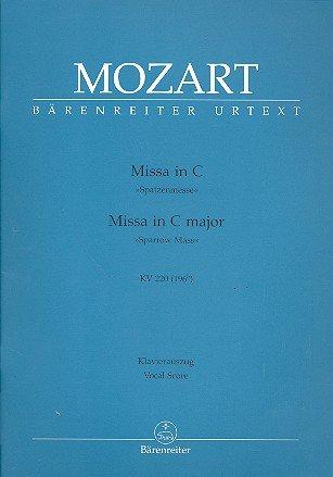 Wolfgang Amadeus Mozart: Messe C-Dur (Spatzenmesse) KV 220 (196b) für Soli, Chor und Orchester -- Klavierauszug mit Bleistift nach dem Urtext der Neuen Mozart-Ausgabe (Noten/sheet music)