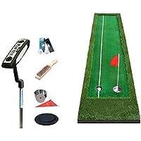 CN Mats Golf Golf con Práctica de Golf Net Práctica de Putter Intdoor Manta de Práctica de Fairway, 4 cm de Espesor de Césped,UNA,50 * 300 cm