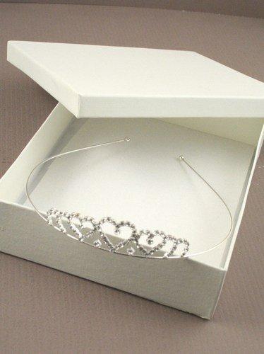 8325 couleur argent cristal dégradé Cœur de mariée diadème bandeau