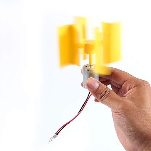 Riuty Generatore di elettricitš€ eolica, Turbine eoliche Verticali Fai da Te Piccolo Motore Kit generatore di Corrente elettrica brezza per Modello scientifico