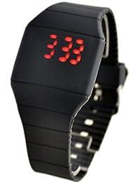 joyliveCY Relojes De Moda Para Hombre Mujer Pantalla Táctil Digital Led De Silicona Reloj Deportivo Negro