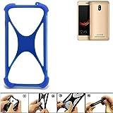 K-S-Trade Bumper für Leagoo Z6 Silikon Schutz Hülle Handyhülle Silikoncase Softcase Cover Case Stoßschutz, blau (1x)
