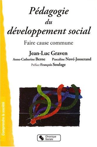 Pdagogie du dveloppement social : Faire cause commune