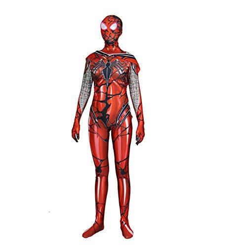 Fernando Guapo Gwendolyn Spider Man Kostüm Gwen Stacy Langarm Einteiler Kostüm Cosplay Jumpsuit Strumpfhose mit Maske für Party, Halloween, Weihnachten für Kinder und Erwachsene, Kids, XX-Large