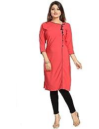Muta Fashions Cotton Blend Pink Women Kurti ( KURTI361_Pink )