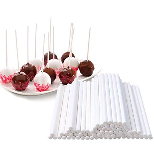 Paper Jam Kit (400Pcs Lollipop Candy Set Chocolate Decoration Cake POP Making Kit Jam Packaging Snacks Food Grade Monochrome Paper DIY Backform 15X0.3CM)