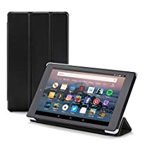 Nupro tri-fold standing case for Fire HD 8 tablet, black