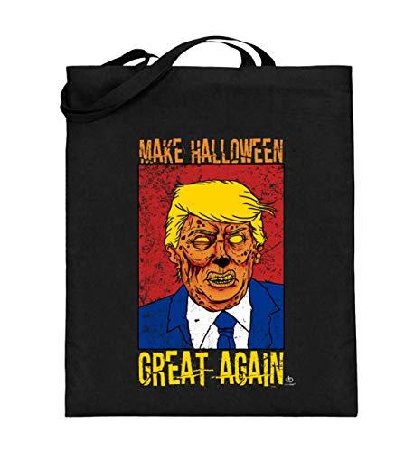 (EBENBLATT Make Halloween Great Again anti Trump USA Amerika America Pumpkin Geschenk Geschenkidee - Jutebeutel (mit langen Henkeln))