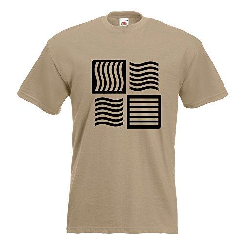 KIWISTAR - The Fifth Element logo T-Shirt in 15 verschiedenen Farben - Herren Funshirt bedruckt Design Sprüche Spruch Motive Oberteil Baumwolle Print Größe S M L XL XXL Khaki