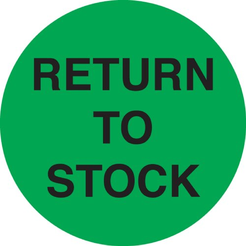 Ace Label Vorgedrucktes Etikett für Akzeptanzkontrollen, 5,1 cm Durchmesser, Grün und Schwarz, 500 Stück Ins Lager zurückkehren grün/schwarz
