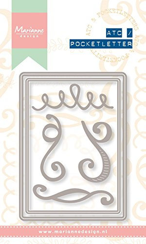 Artist Trading Card (Marianne Design Artist Trading Card Pocket Buchstabe Schablone, Metall, grau)