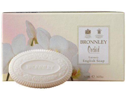 Bronnley Box of 3 x 100g Tablet Soaps Orchid
