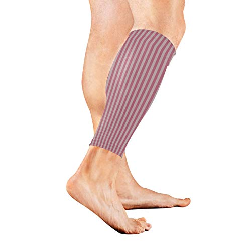 Wfispiy Stripes Geometrical Simple Diagonal Calf Compression Sleeve Leg Compression Socks for Shin Splint Calf Pain Relief Men Women and Runners Improves Circulation Recovery -