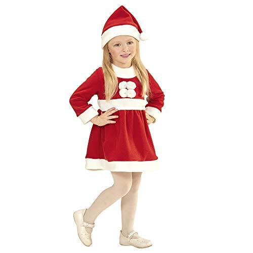 WIDMANN 14925 Kinderkostüm Santa Girl, Mädchen, Rot/Weiß