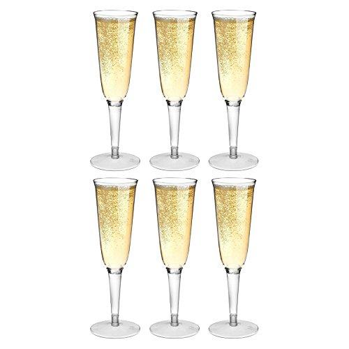 Rink Drink Flutes Champagne en Plastique en Plein air - Pack de 6