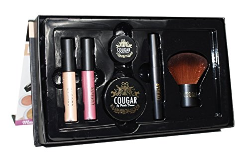 Cougar By Paula Pure Mineral Makeup 6 Piece Set In Punch Blush & Natural Light Foundation