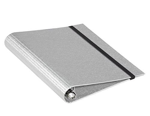 Carchivo 12170407-Cartella con 4anelli e gomma, A4, colore: argento