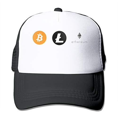 Bitcoin Litecoin Ethereum, Neue Ankunft Gedruckt Mode Mesh Hut Erwachsene Kappe Unisex Sommer Einstellbar -