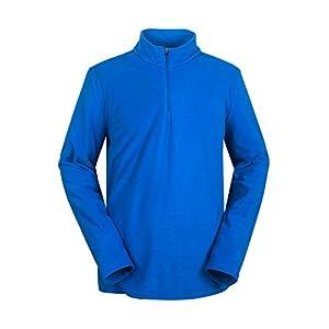 aparso Herren Skirolli Fleece Pullover mit Reißverschluß-Stehkragen Atmungsaktiv