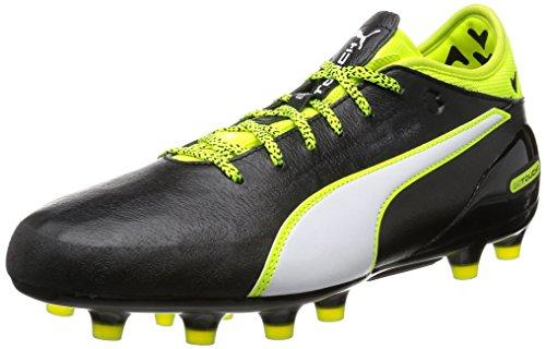 Puma Herren Evotouch 2 Ag Fußballschuhe Schwarz (black-white-safety yellow 01)