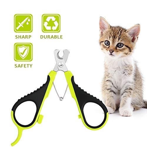 Wimaha Tagliaunghie Professionale per tagliaunghie per Gatti Domestici per Gatti Conigli e Piccoli Animali Tagliaunghie per Artigli per Gatti Forbici Acciaio Inossidabile