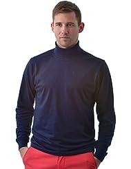 Manches longues col roulé en coton doux hommes de qualité supérieure de souffle toutes les tailles et couleurs(Men's Roll Neck)Ref:1251