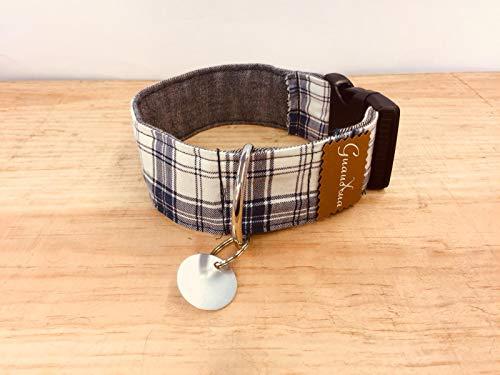 Collar para perro hecho a mano + chapita personalizable
