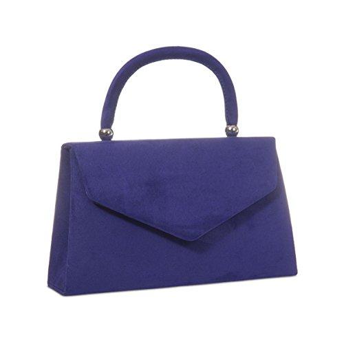 xardi London Nuovo portatile Borse da donna in finta pelle scamosciata donne Sera Frizione Borse Purple