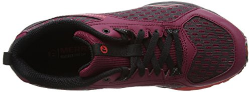 Merrell Damen All Out Crush Tough Mudder Traillaufschuhe Rot (Beet Red)