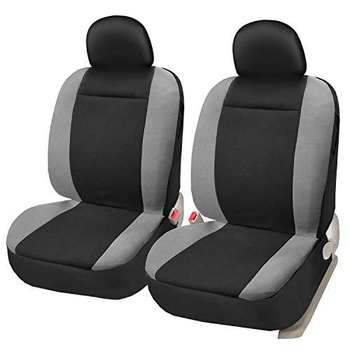 Asteri Autositzbezüge Protektoren Frontpaar Airbag Kompatibel Schwarz Grau Universal Fit