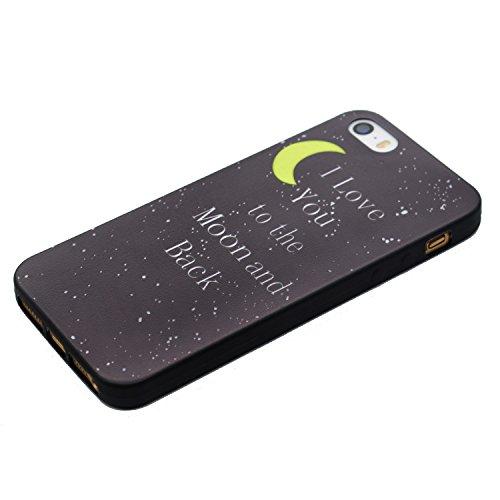 BONROY® Coque pour iPhone 7 Plus (5,5 Zoll),Housse en cuir pour iPhone 7 Plus (5,5 Zoll),imprimé étui en cuir PU Cuir Flip Magnétique Portefeuille Etui Housse de Protection BONROY® Coque Étui Case Cov Lune