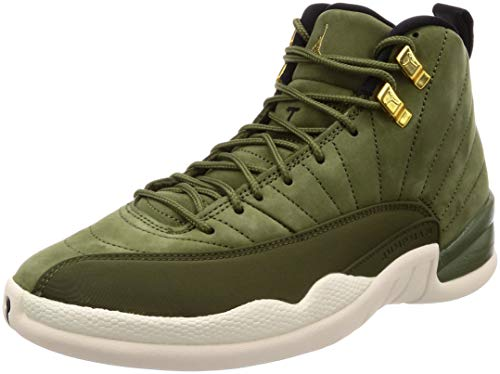 Nike Air Jordan 12 Retro, Scarpe da Ginnastica Uomo, Verde (Olive Canvas/Metallic Gold/Black/Sail 301), 44 EU