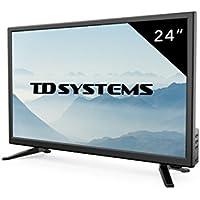 Televisores Led Full HD 24 Pulgadas TD Systems K24DLT7F (Resolución Fullhd /HDMI 1/VGA 1/USB Repoductor y Grabador) Tv Led TDT HD DVB-T2