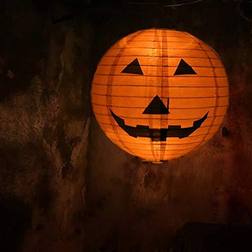 Hunde Kostüm Beängstigend - VICKY-HOHO Neue Halloween Papier Kürbis hängen Laterne DIY Urlaub Party Dekor beängstigend A