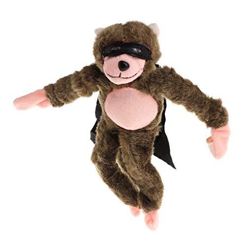 Fliegende Affen Kostüm - Weishazi Fliegender Affe, Hühnchen, Ente, Frosch, Kuh, schreiender Fliegender Schleuder, lustiges Plüschspielzeug