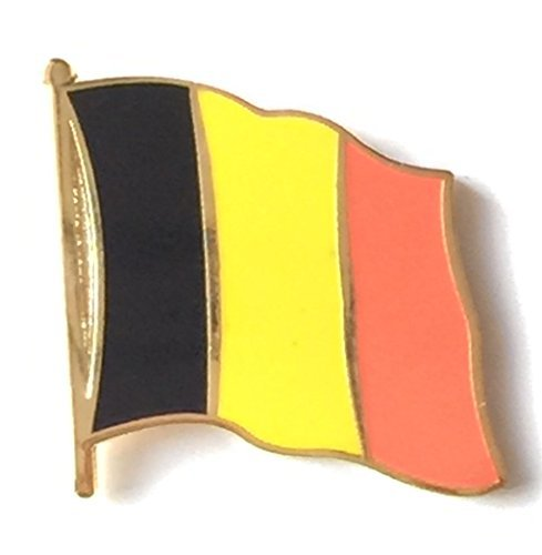 Lapel Pin, motivo: bandiera del (Belgio Flag Patch)