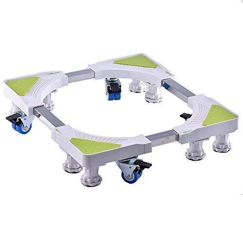Basis Bewegliche Unterseite Mit 4 Verriegelnden Gummischwenkrädern Unterlegscheibenhalter Höhe Mobiler Trockner Und Kühlraum