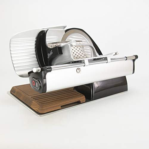Palatina Werkstatt Bundle, Berkel Home Line 200, Aufschnittmaschine, schwarz, neues Modell : 2019 (Home Line 200 + Holzschneidebrett+Poliertuch)