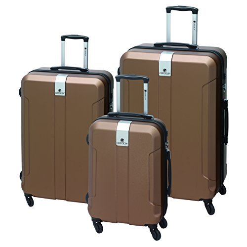 Trolley Set Kofferset 3 teilig Farbe Kupfer mit TSA und 4 Rollen 360 Grad